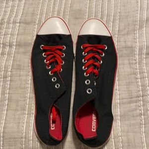Converse- Black & Red Chuck Taylor's